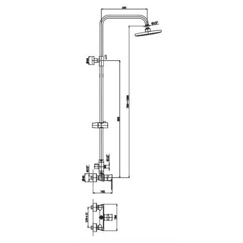 Душевая система Haiba Houston 003 J HB0229