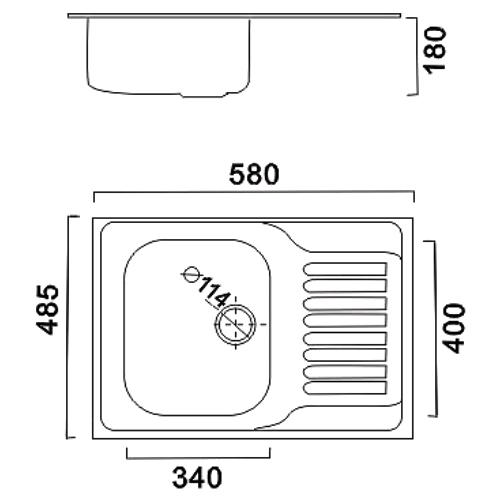 Мойка для кухни HAIBA D4858 Decor 0,8мм